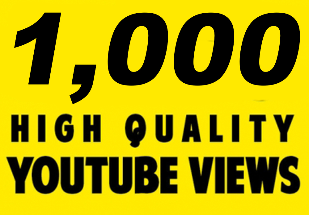 Provide You 1000 Quality Youtube Views