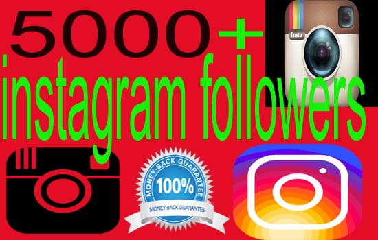 give 5000+ real Instagram Followers [High Quality]