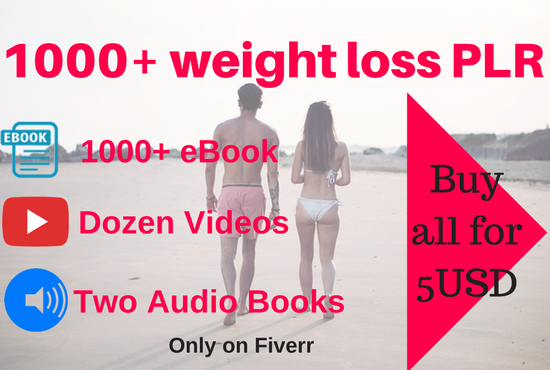 1000 PLR weight loss ebook and more.