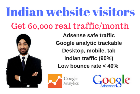 provide indian traffic 60000