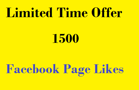 give you 1500 Facebook Page Likes