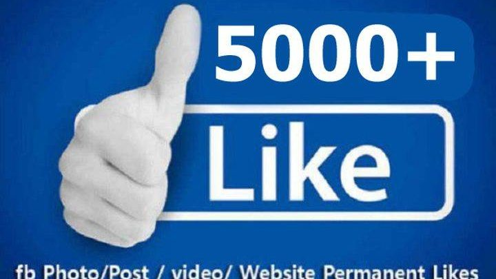 Super Fast 5000+ Facebook Post Photo, Video, Status Likes