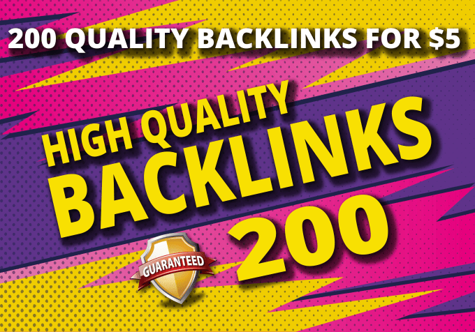 200 manual backlinks, to your website