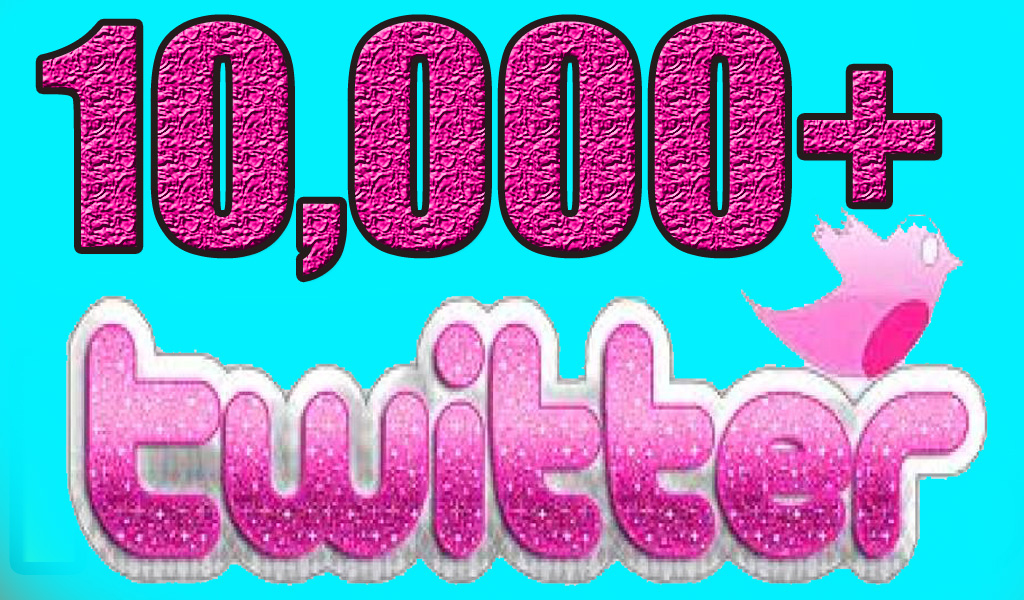 10,000 Nondrop Real Twitter followers for your twitter account