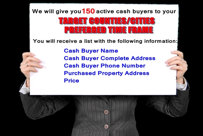 Give 300 Real Estate Cash Buyers With Phone And Extras