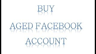 give you at least 3 years old facebook account