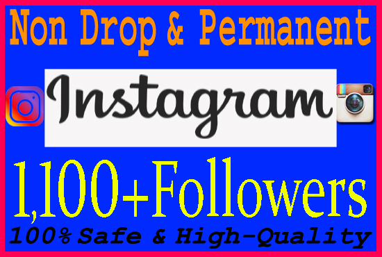 Give you 1100+ Real Instagram Or Twitter Followers