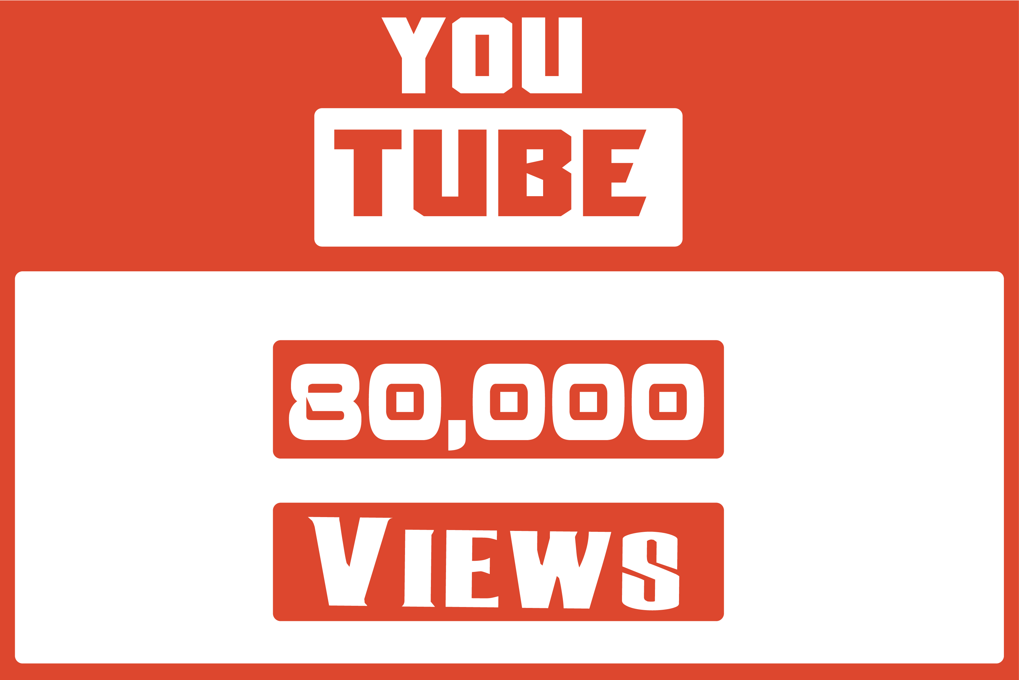 Get 80,000 HIGH QUALITY YouTube Video Views