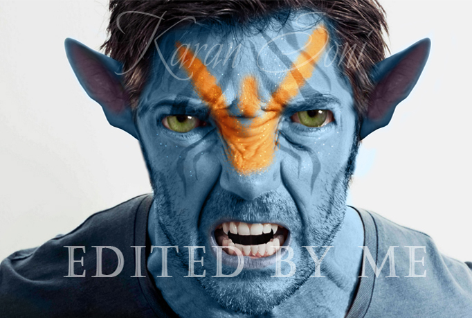 create a realistic looking avatar Na'vi for you