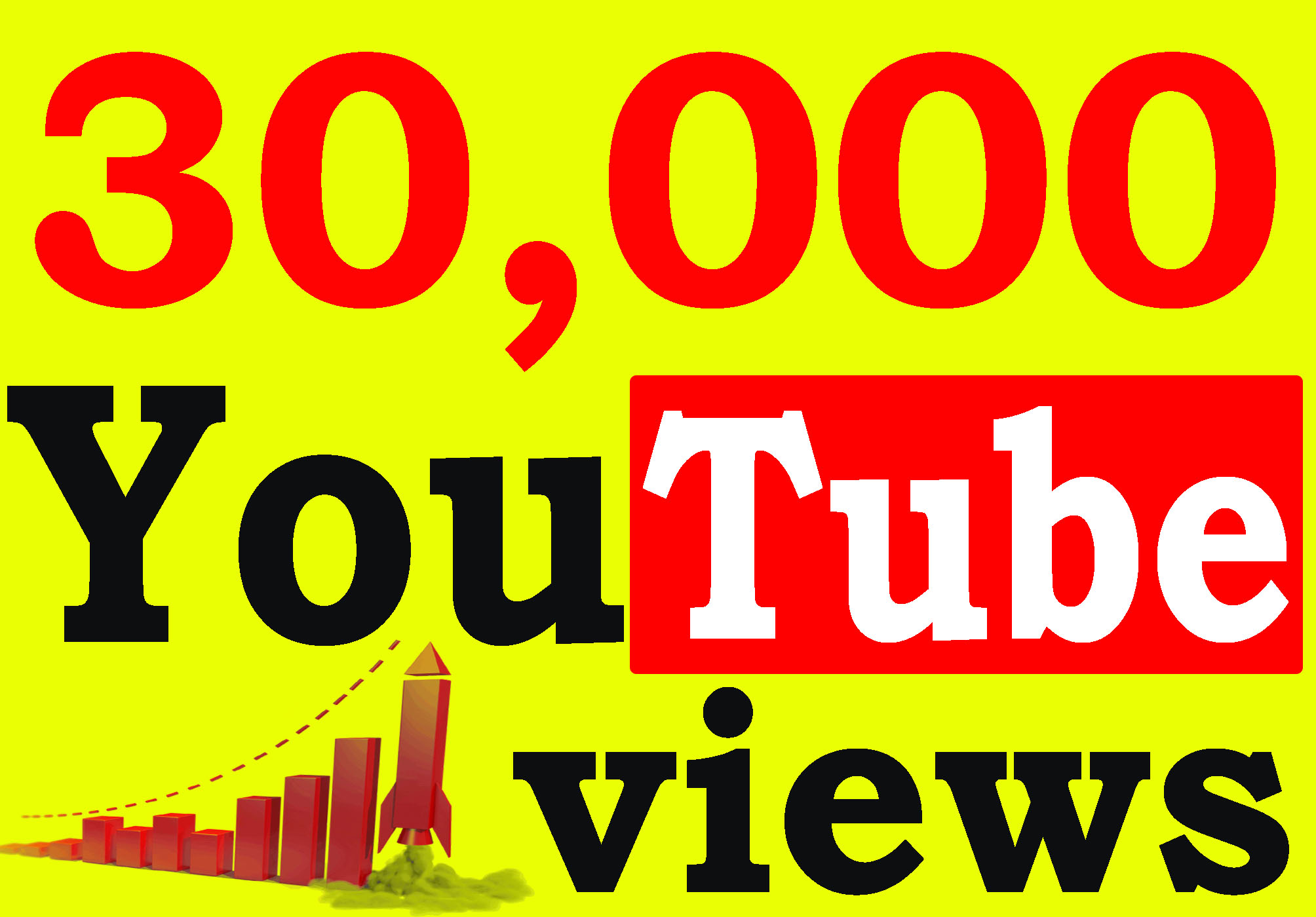 Provide you 30,000 High Quality youtube Views 100% safely.