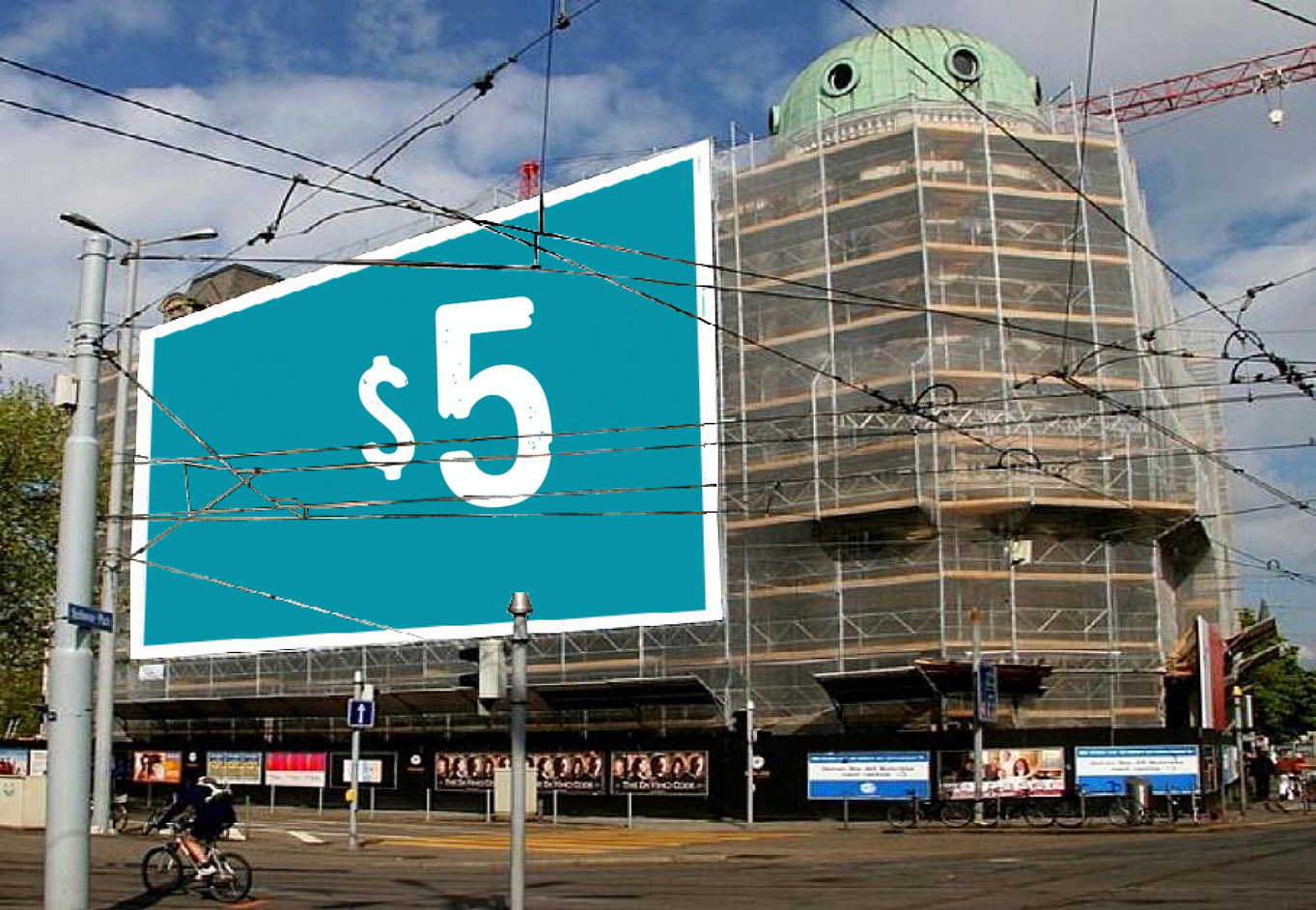 put photo or logo on 40 BILLBOARDS city posters