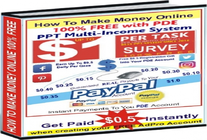 send you the easiest PPC guide to make free instant money