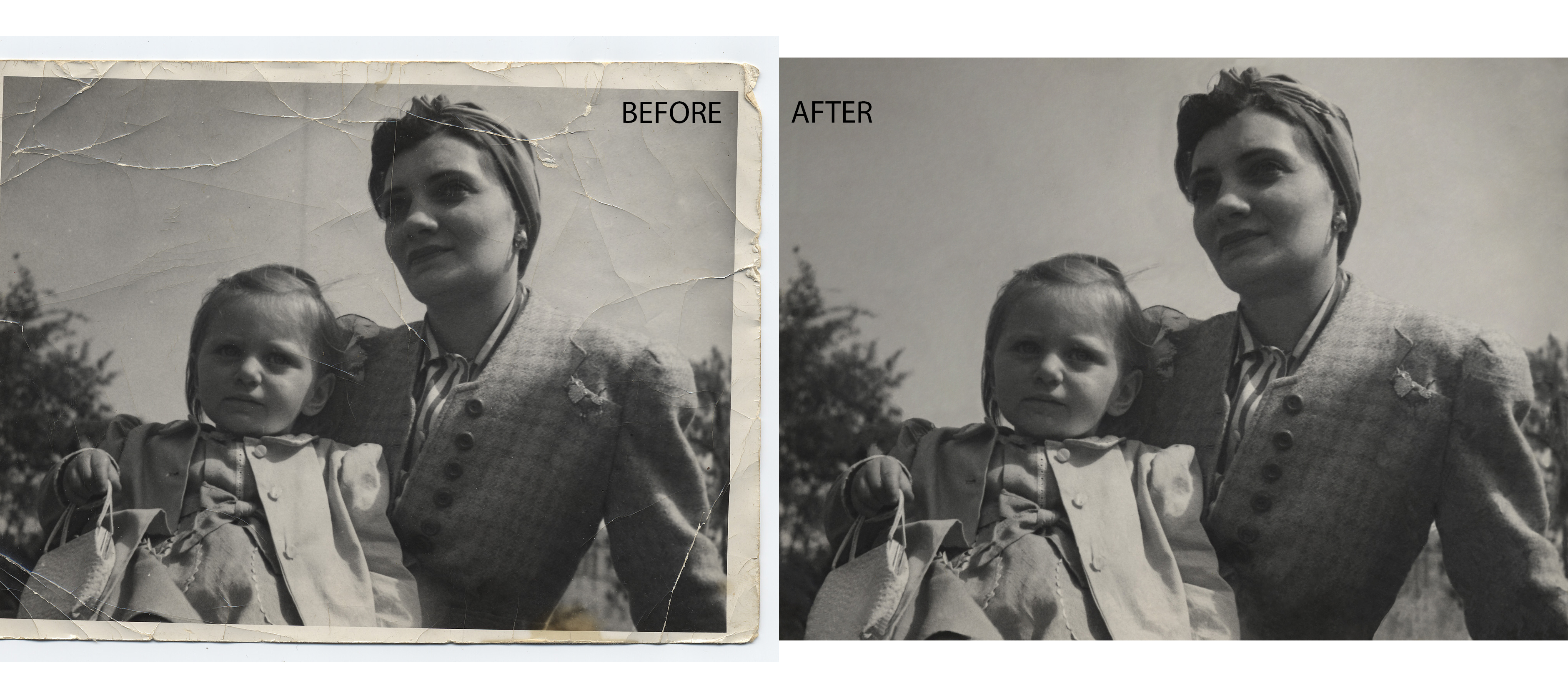 professionally retouch 2 pictures