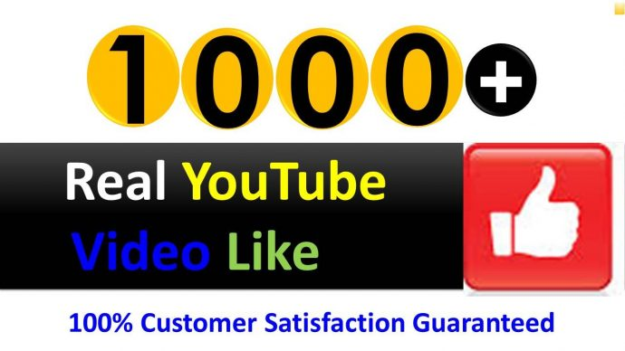 Instant Add 1000+ Organic YouTube Video Likes in 1 to 3 Hours, Real Active and non drop Guaranteed