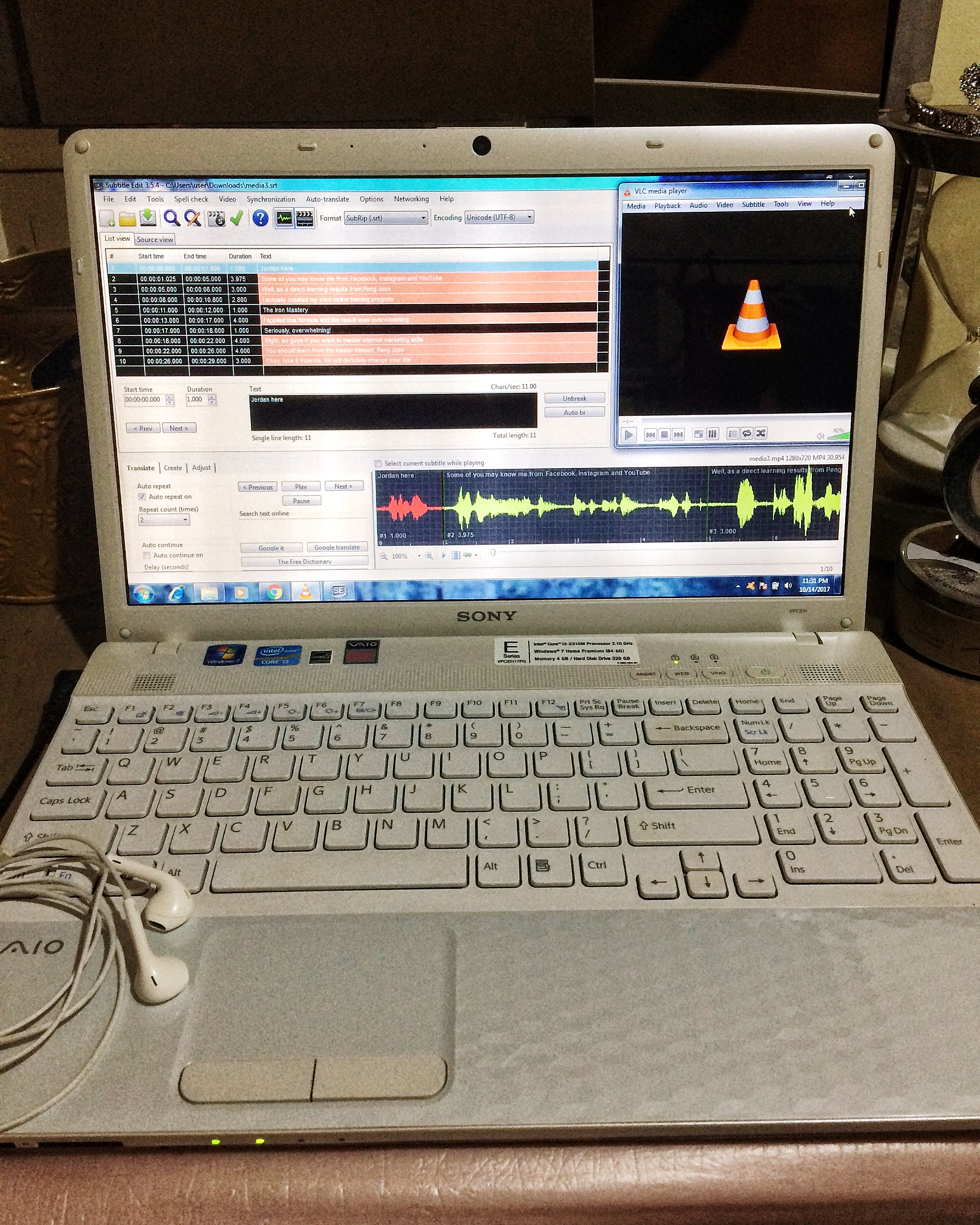 transcribe English Audio or Video