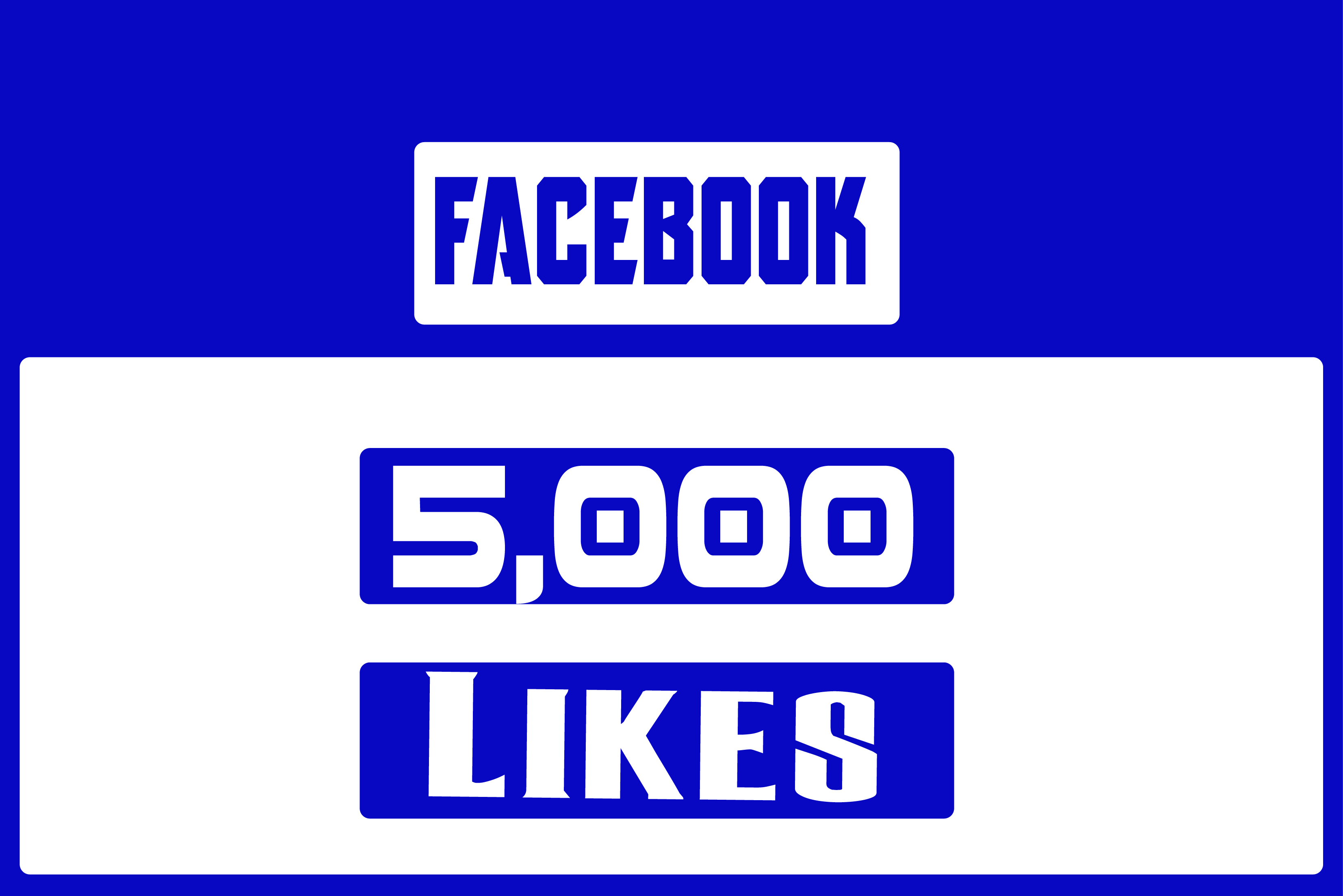 give you 5000 Facebook likes for your fanpage