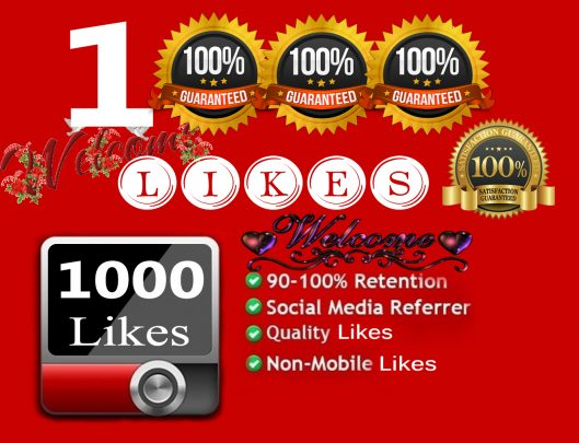 give 1000+ Youtube Video Likes in 24 Hours! -Great Service – Fast Delivery – High Quality – 100% SAFE