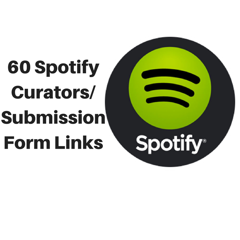 send you list of 60 spotify curator/submission for links