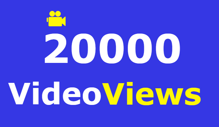 20000 facebook video views +2000 likes