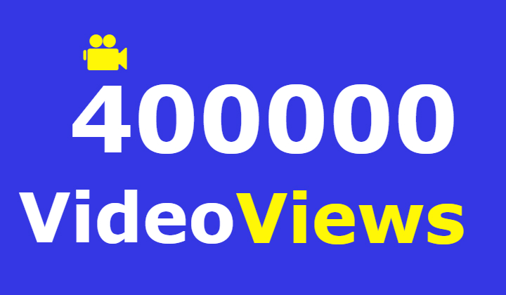 400000 facebook video views +10000 likes +2000 Emoticons