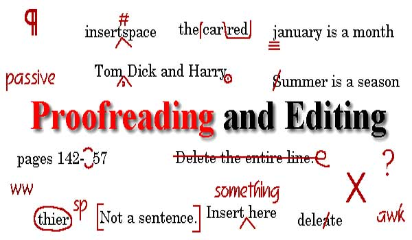 proofread and edit professionally and quickly