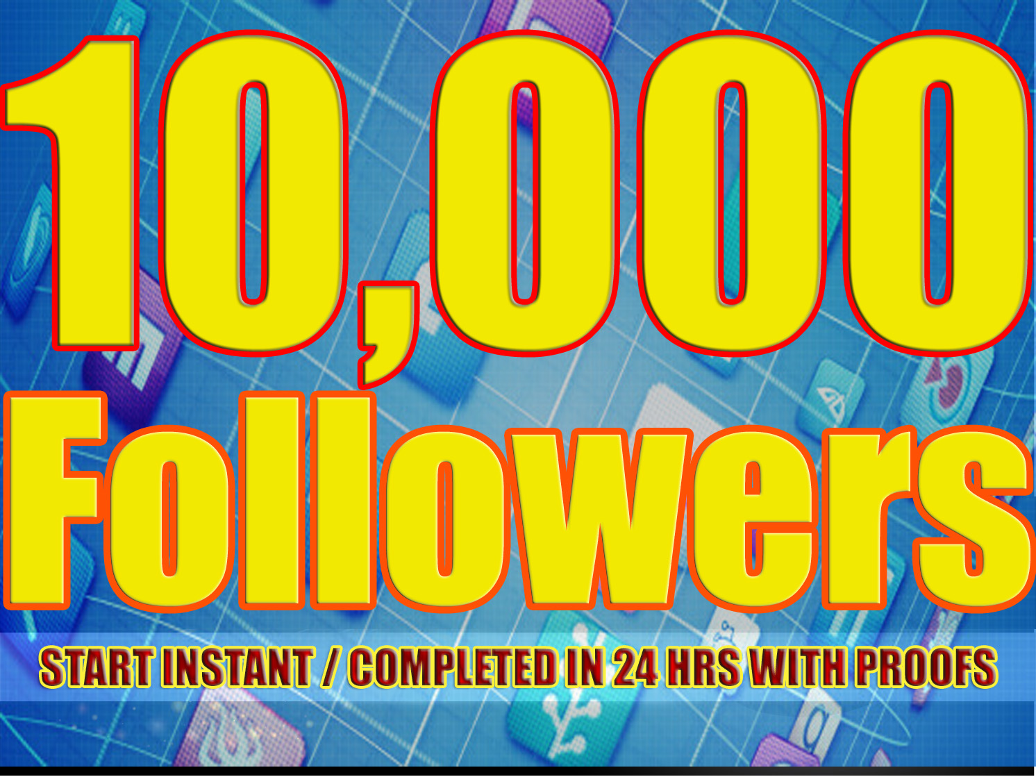 Gives you 10,000 Twitter Real Followers No Egg Real Pics