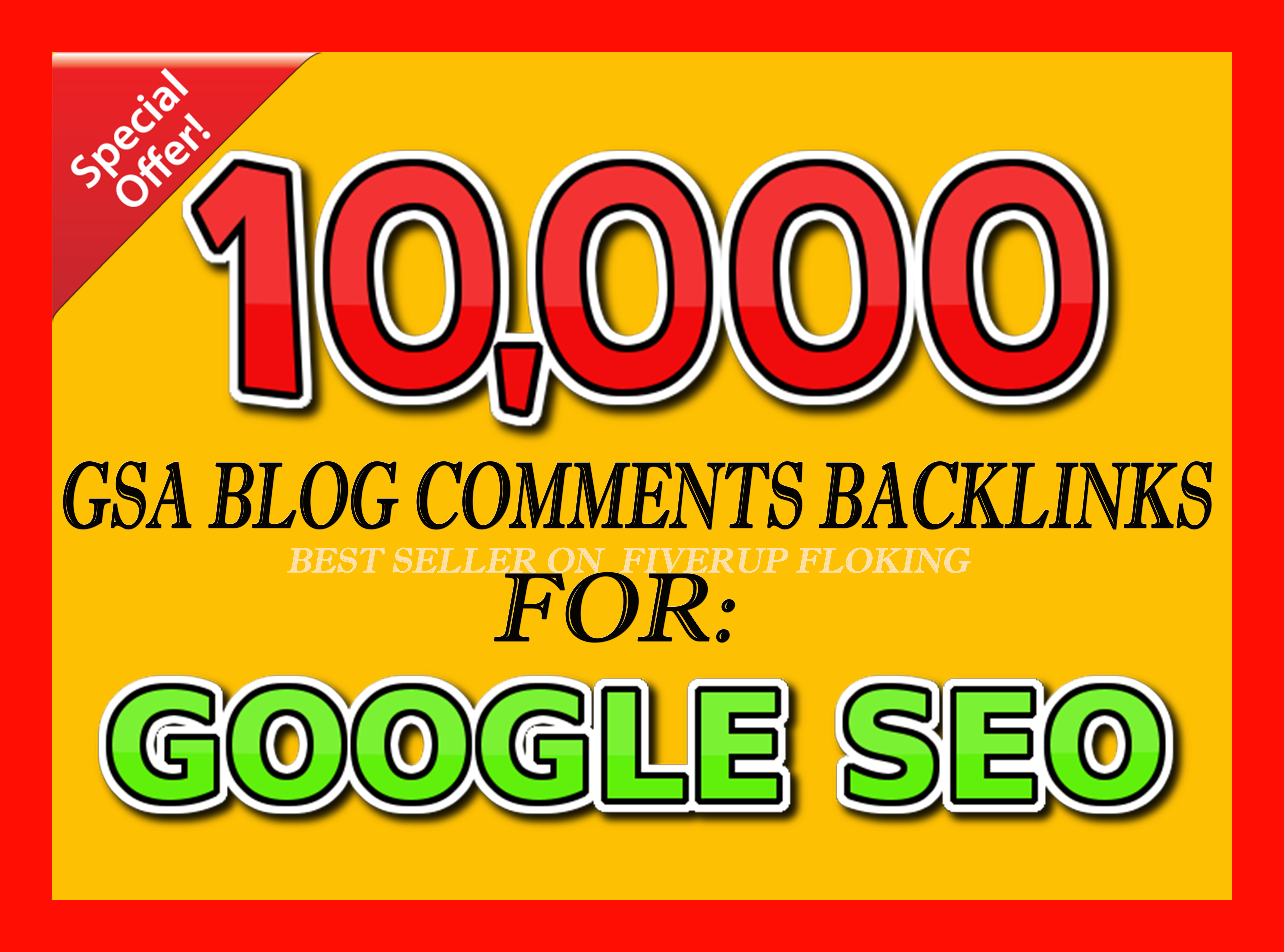 10,000 GSA Blog Comments Backlinks for Google SEO to increase your ranking in search results
