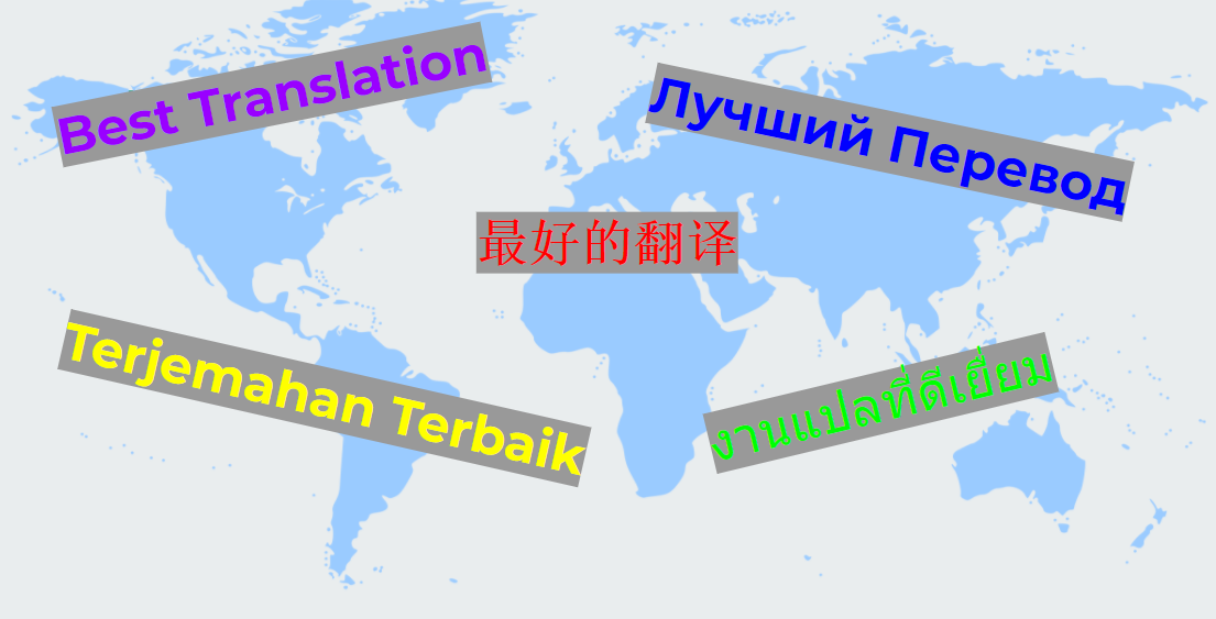 Translate In English Russian Chinese Malay And Thai