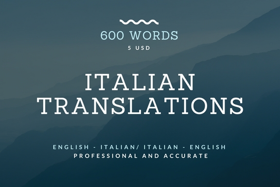 professionally translate up to 600 words into Italian