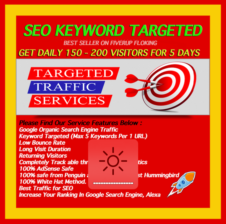 150-200 KEYWORD TARGETED GOOGLE ORGANIC VISITORS FOR 5 DAYS