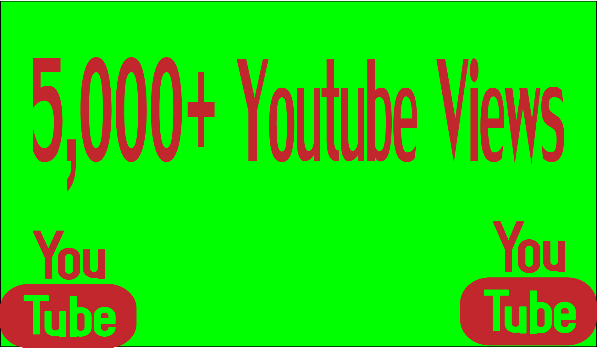 Provide you 5,000 High Quality youtube Views 100% safely.