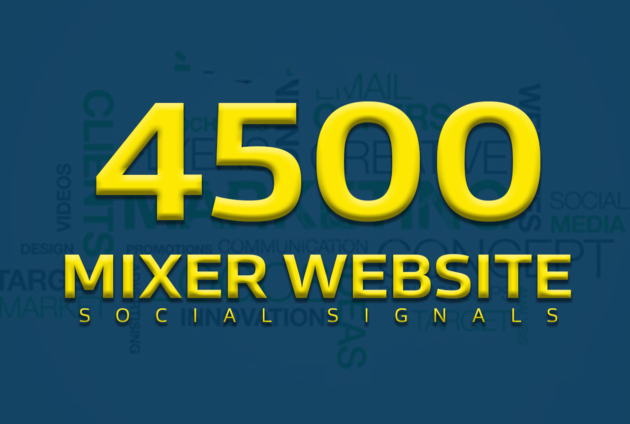 Boost your website with 4500+ POWERFUL Social Signals from only HIGH PR Websites