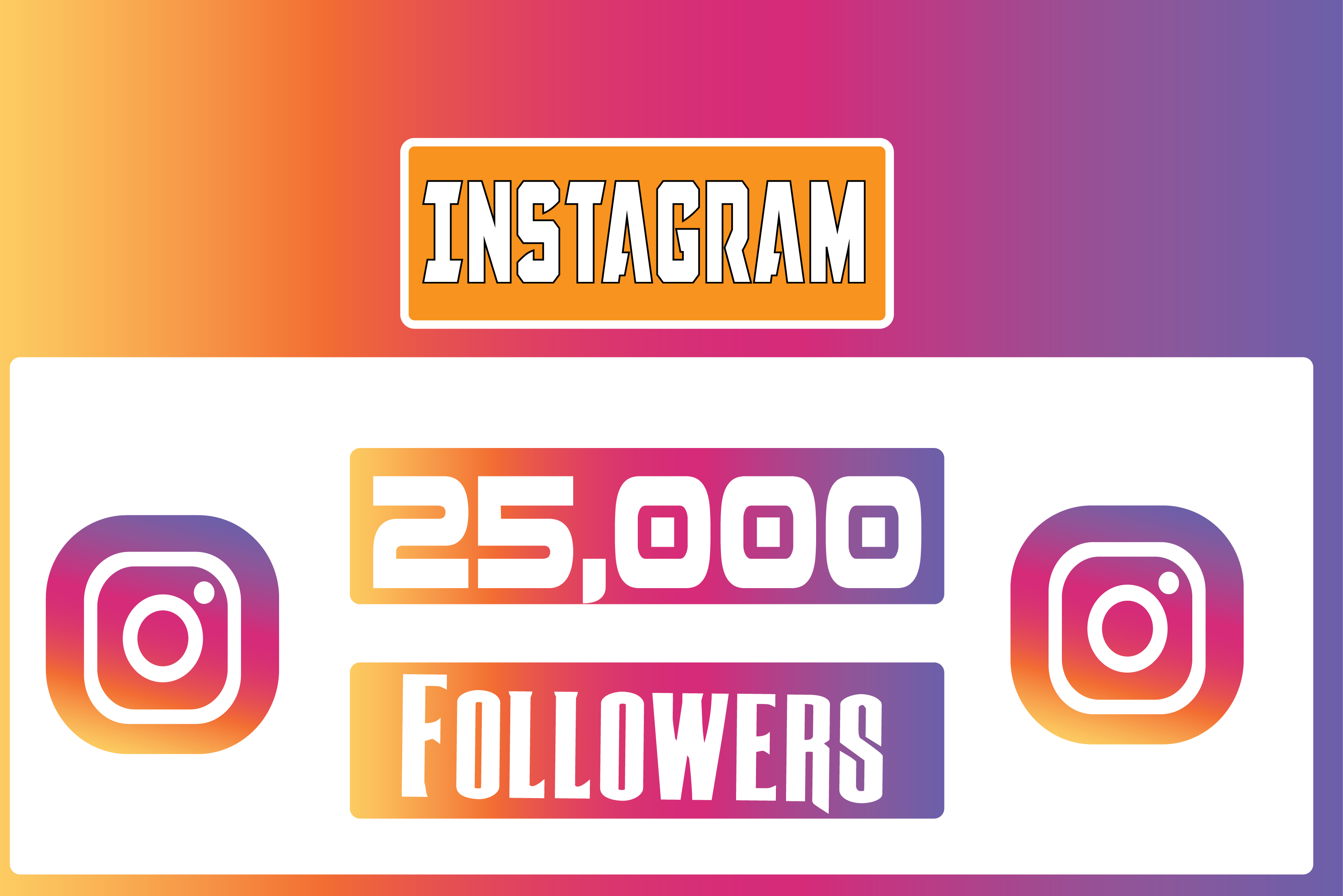 Instagram 25,000 Instant Fast Non Drop Followers
