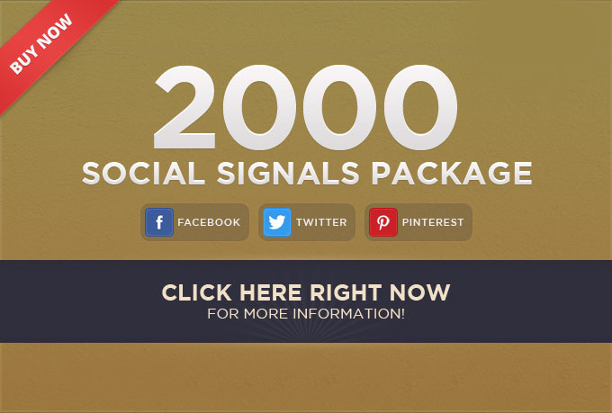 POWERFULL HQ ORGANIC 2000 social signals 4 best social media site