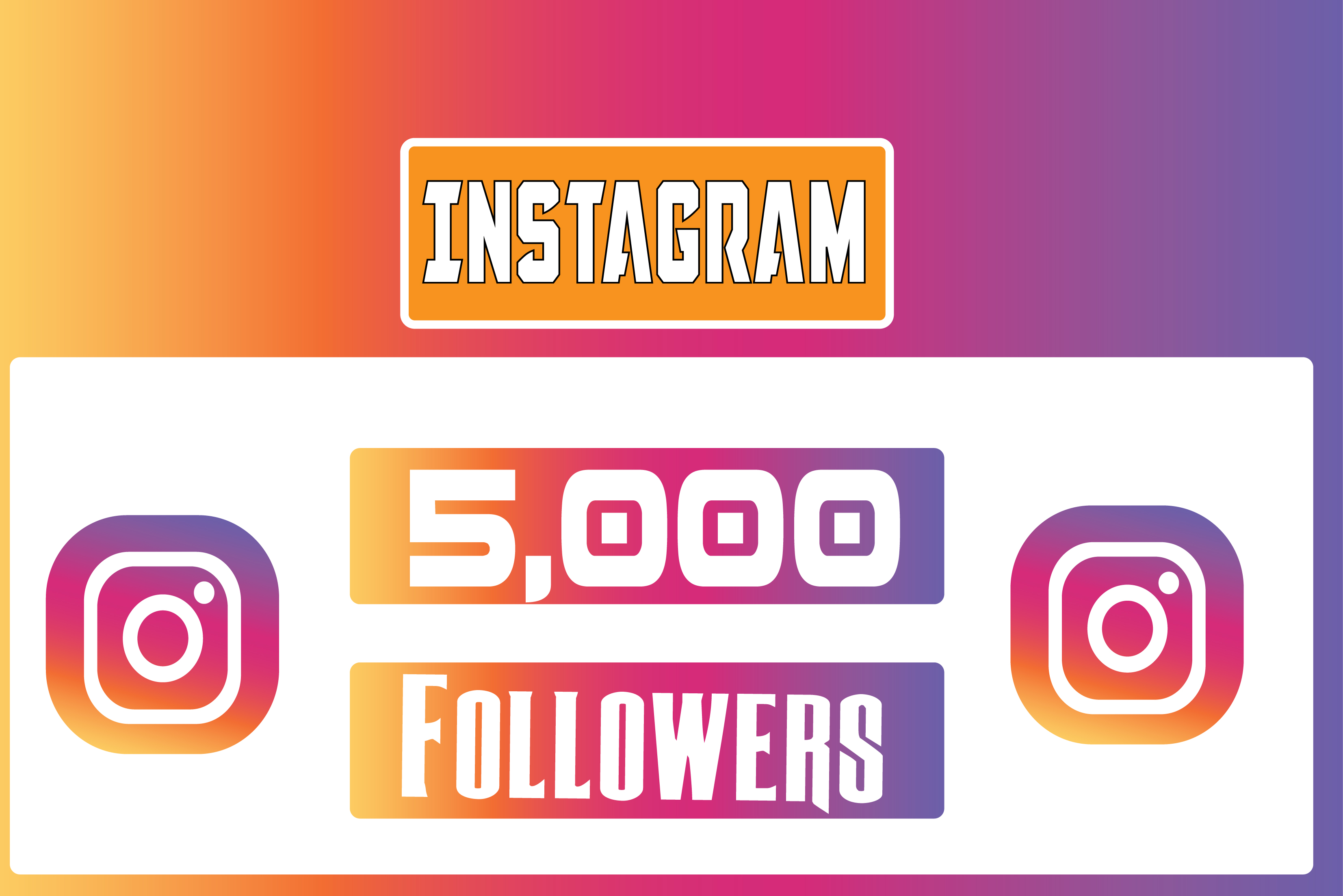give 5,000+ Instagram Quality Followers Non Drop in 24 Hours! -Great & Fast HQ Service – 100% SAFE