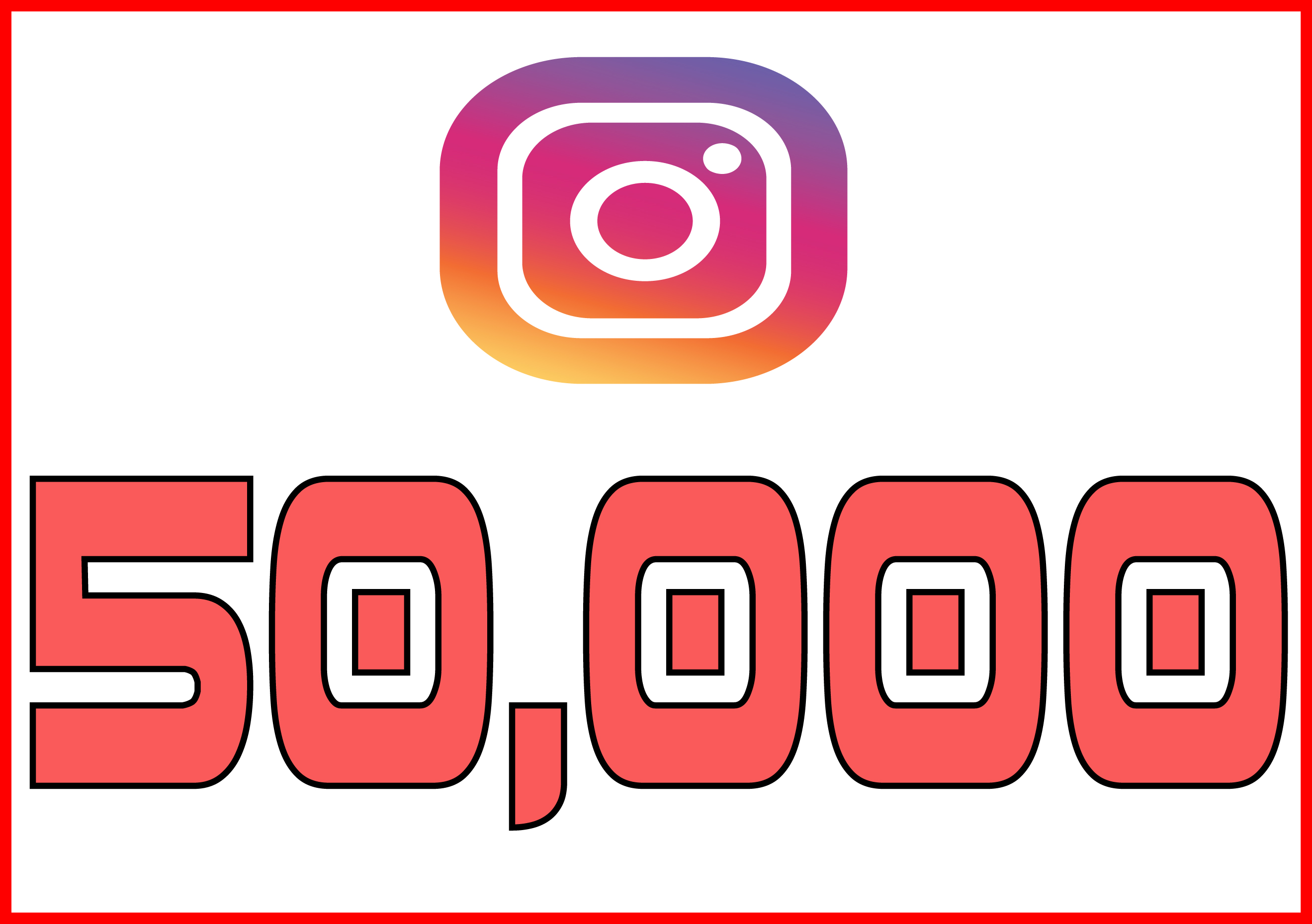 50,000+ Instagram Quality Followers Non Drop in 24 Hours! -Great & Fast HQ Service – 100% SAFE