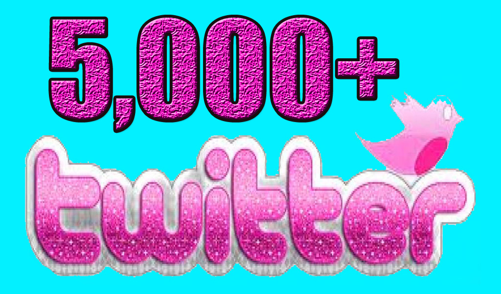 5000 Nondrop Real Twitter followers for your twitter account