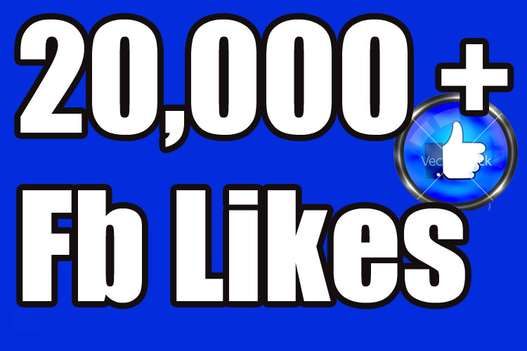 Gives you 20,000+Instantly started PERMANENT Active Facebook likes