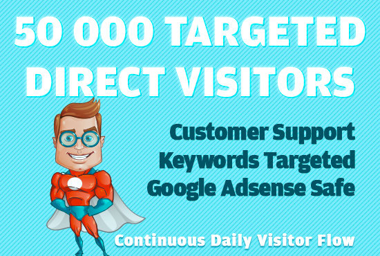 Send 50000 Niche Targeted Quality Whitehat Traffic