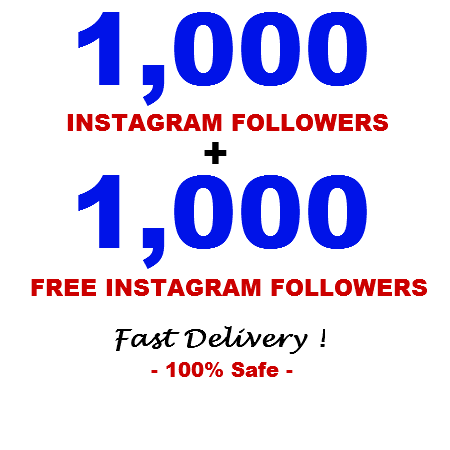 give You 1000+1000(free) Instagram followers