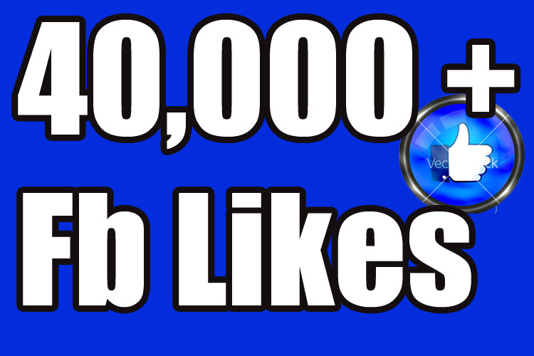 Gives you 40,000+Instantly started PERMANENT Active Facebook likes