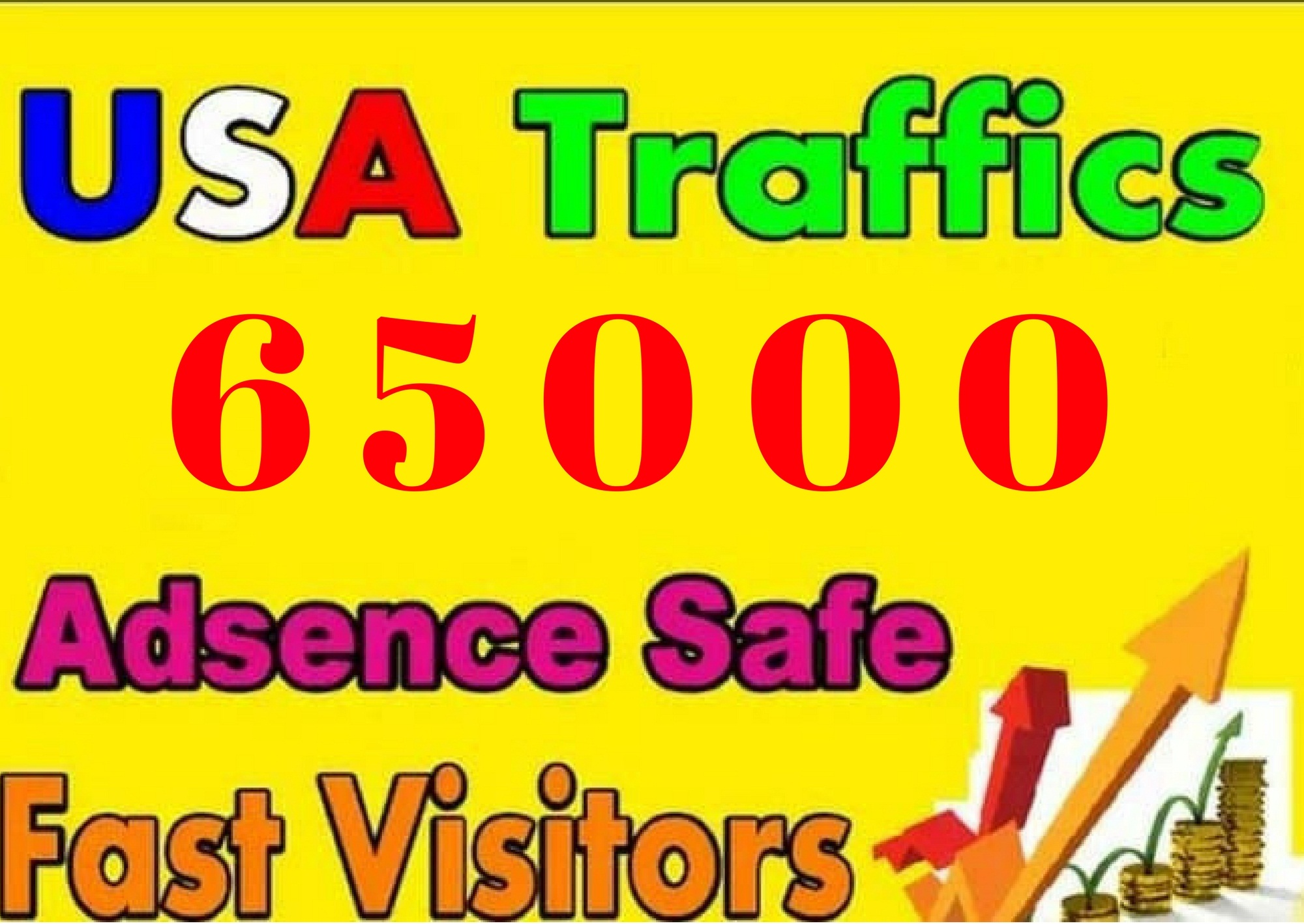 send 65,000 USA Targeted Real Web Traffic, Visitors