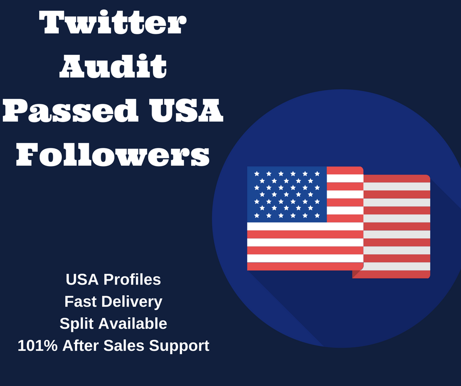 Twitter Audit Passed Instant 1000 HQ USA Twitter Followers