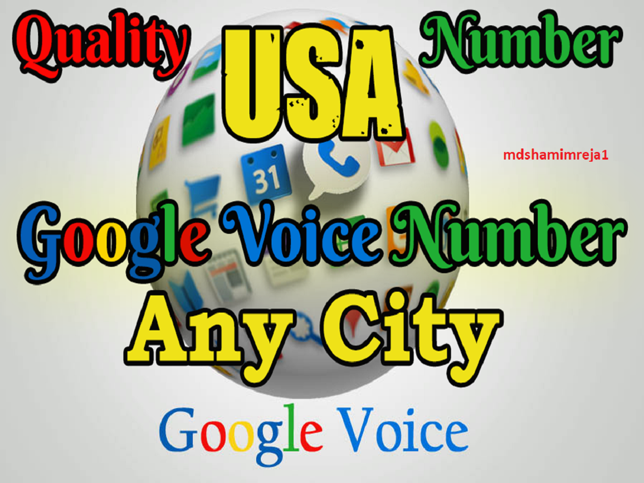 Give you 30 Google Voice Accounts/US Number