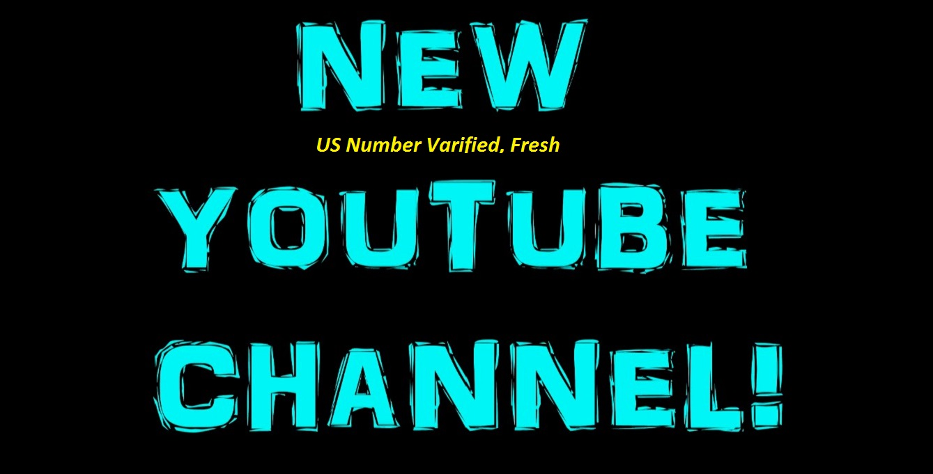 Give you US Number Varified 10 YOUTube Channels