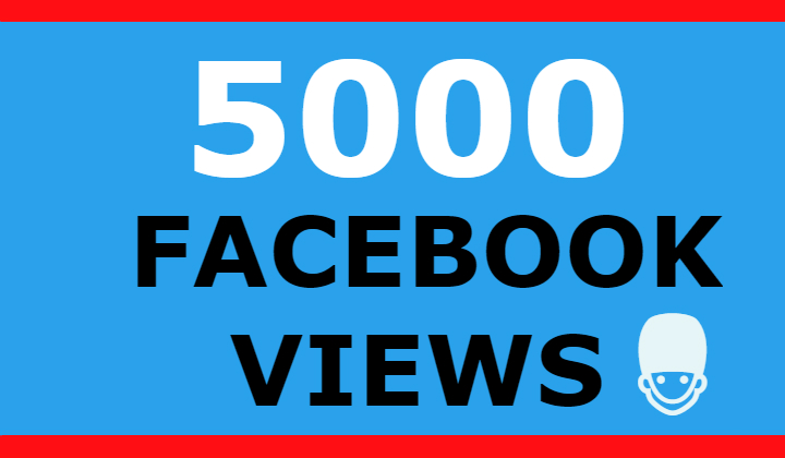 5000 FACEBOOK VIEWS +500 LIKES (SUPER FAST)