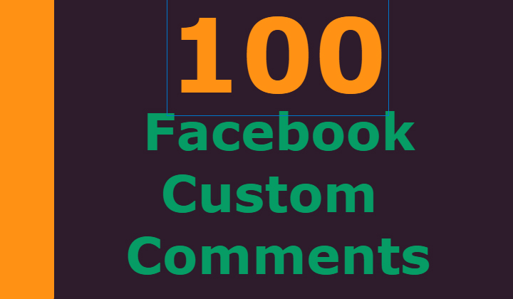 100 Facebook custom comments +200 post likes