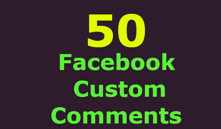 50 Facebook custom comments +100 post likes