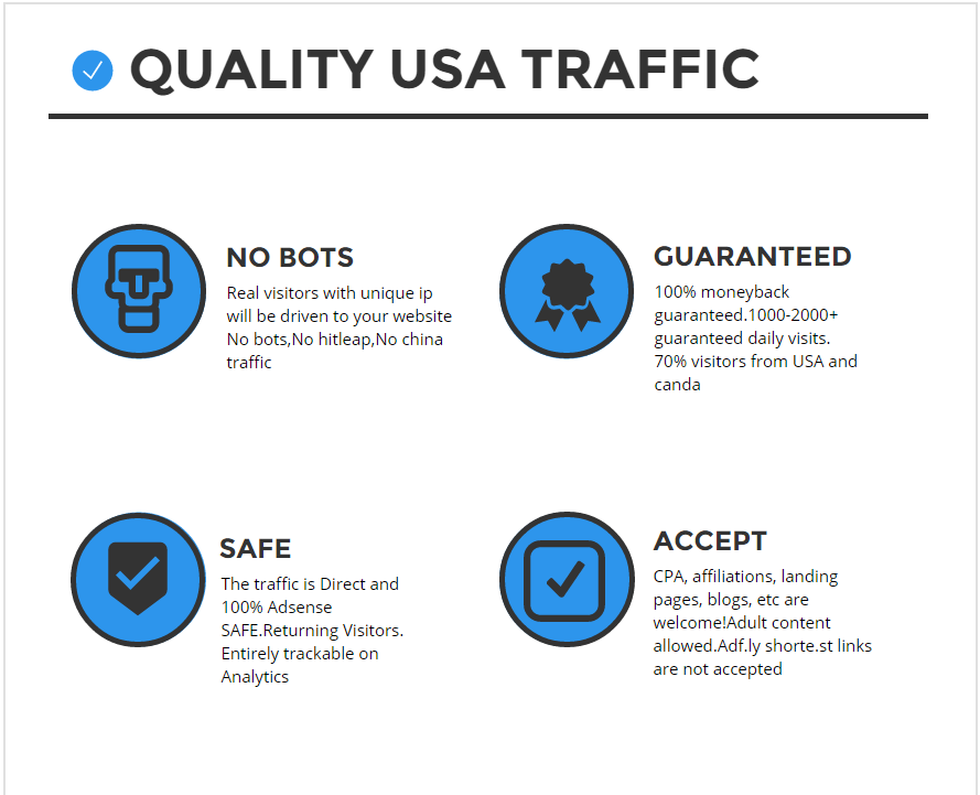10000 quality USA traffic to your website