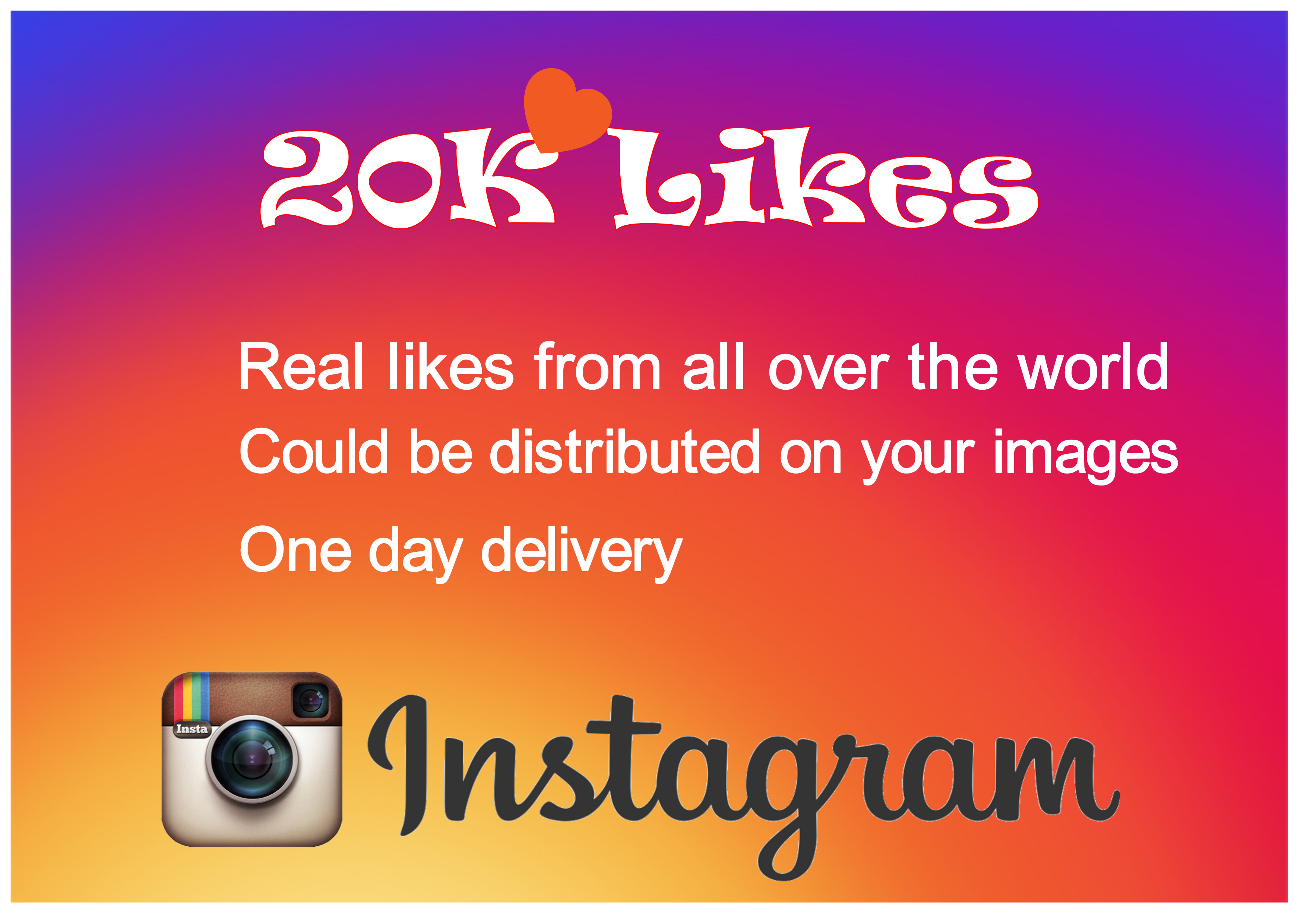 add 20K instagram real likes to your images